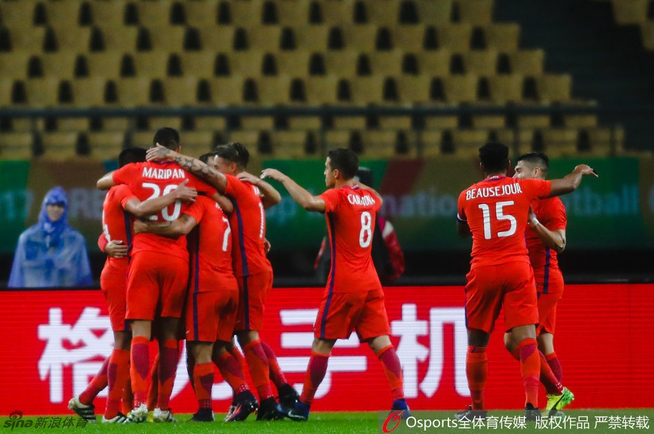 Chile vs. Croacia en China Cup 2017. Fotografía: @fussballchina.