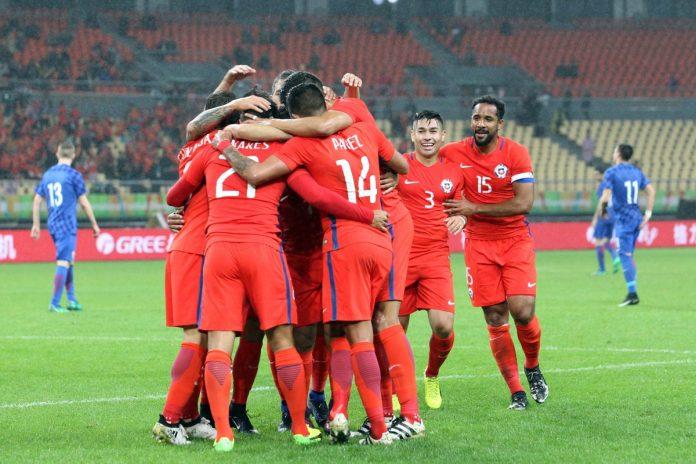 Chile vs. Croacia en China Cup 2017. Fotografía: ANFP.
