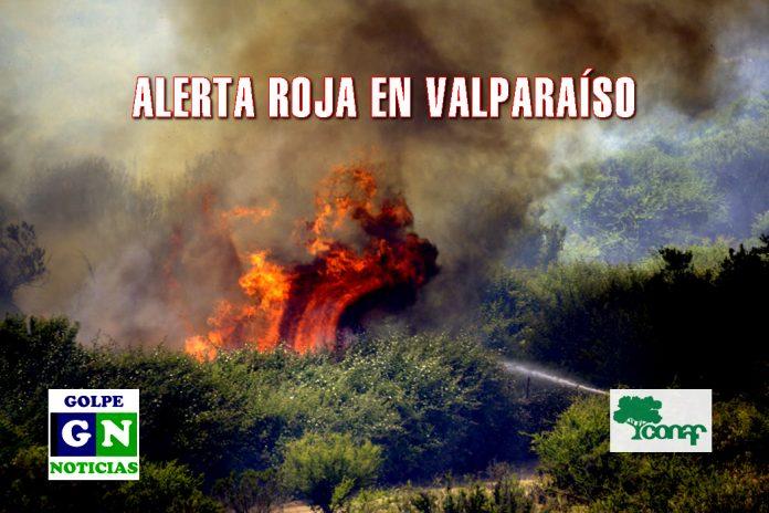 Fotografía de archivo GN, incendio en Las Vegas, Las Américas, Villa Alemana.