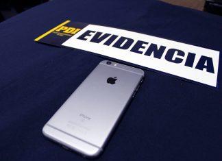 Evidencia, IPhone. / Fotografía: Archivo PDI.