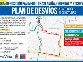 Plan de desvíos, Municipalidad de Viña del Mar. Click para agrandar.